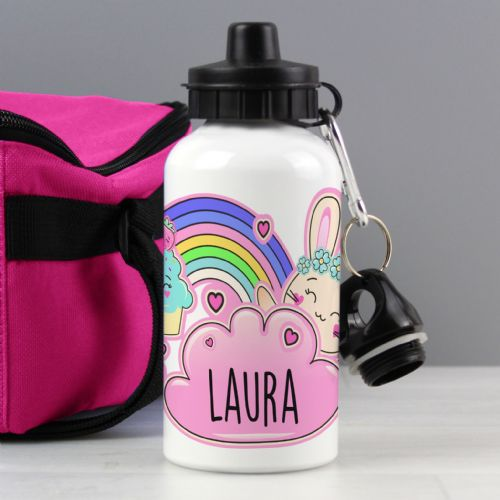 Personalised Cute Bunny Drinks Bottle